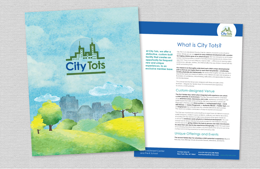 City Tots Promotional Graphic Design