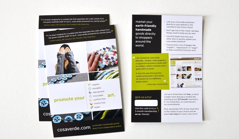 Print and promotional design cosa verde