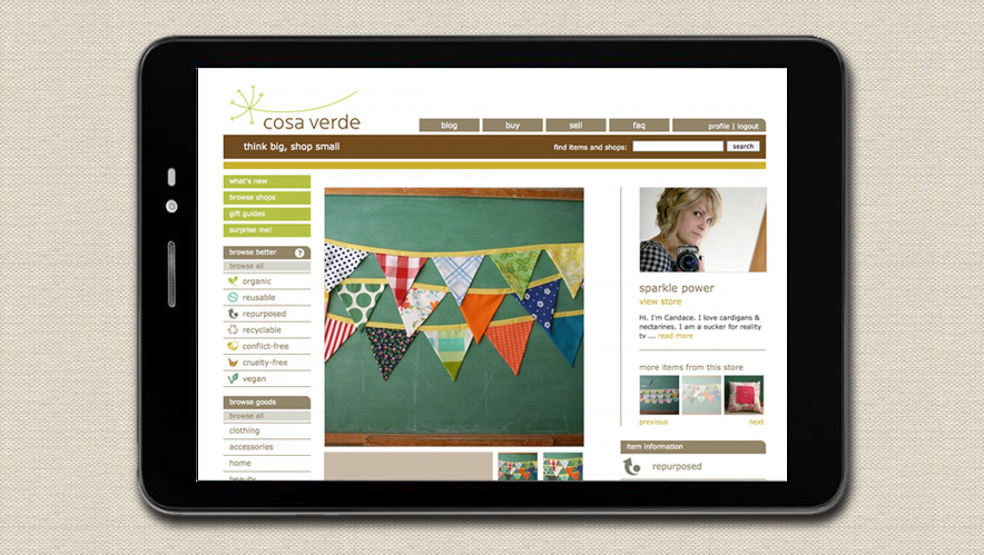cosa verde brand and web design