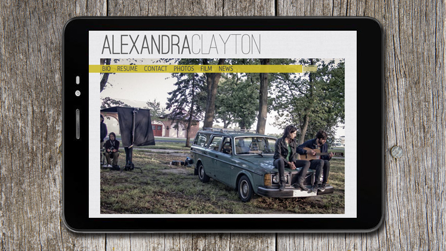 Alexandra Clayton Website Design
