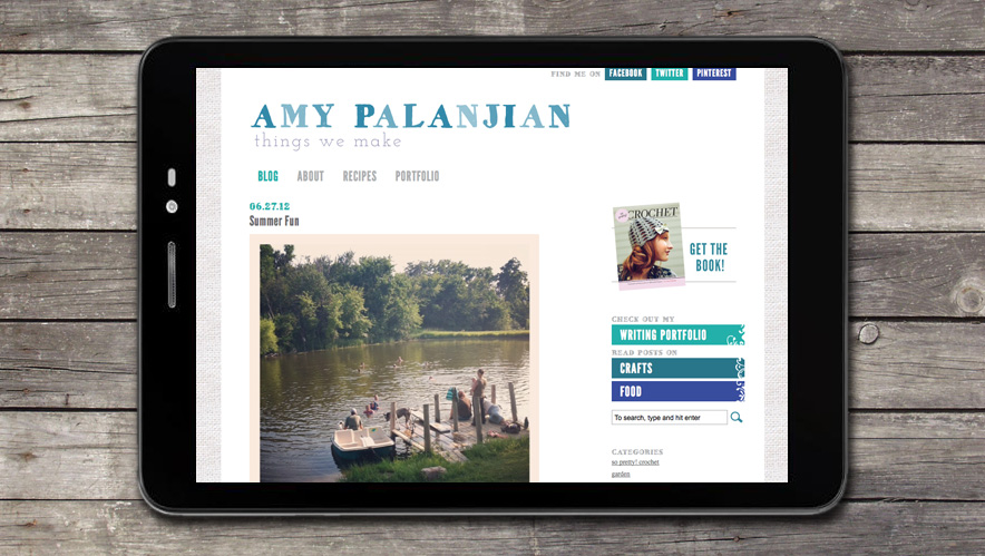 Amy Palanjian Website Design
