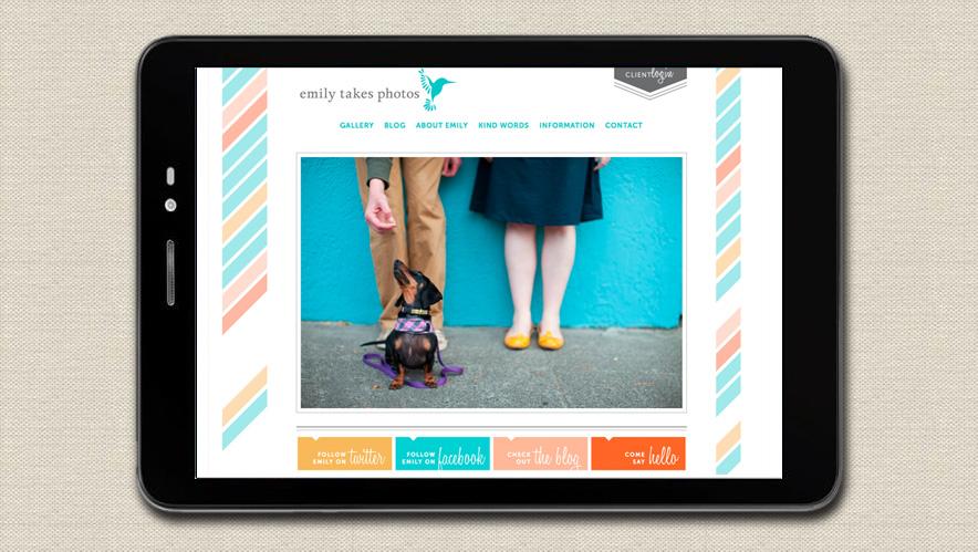 Emily Takes Photos Website Design