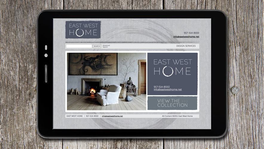 East West Home Logo and Website Design