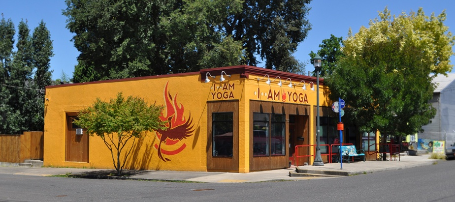 I Am Yoga Identity and Building Signage