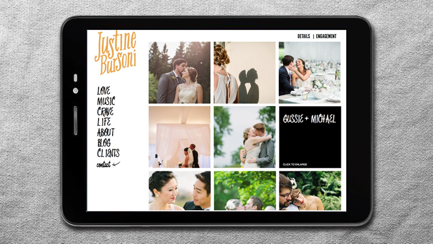 Justine Bursoni Web Design