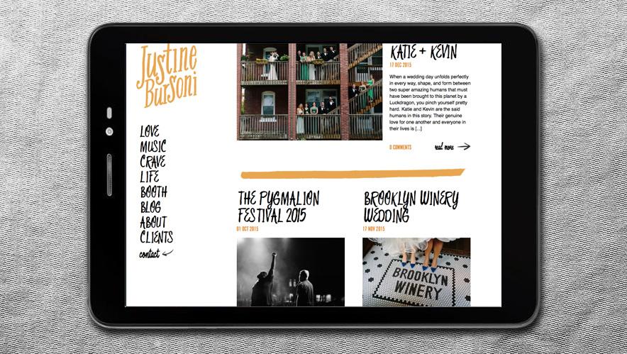 Justine Bursoni Web Design