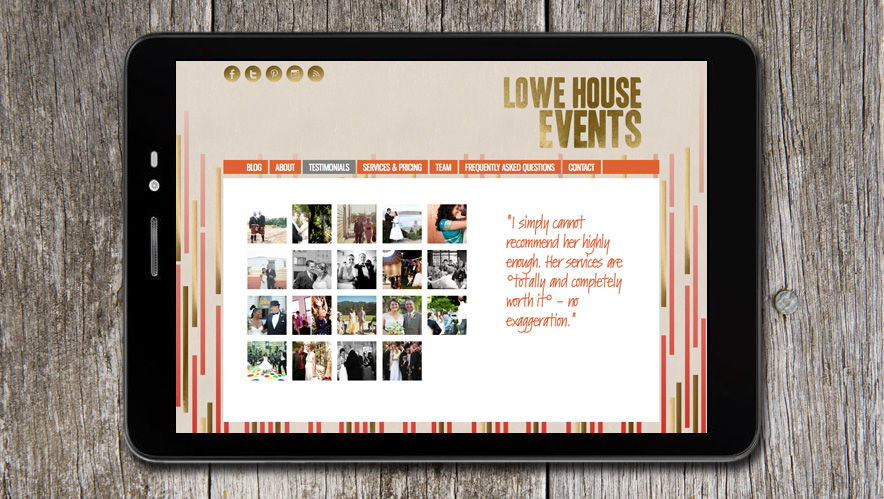 Lowe House Creative Website Design
