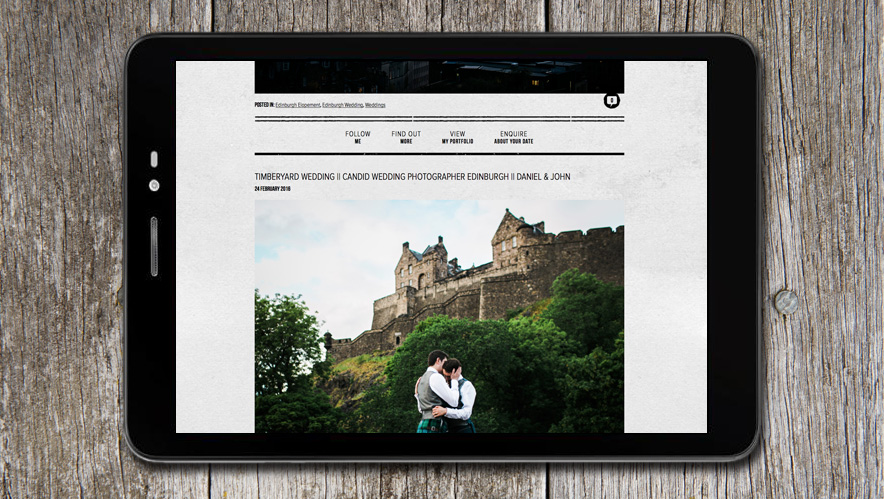 Lauren McGlynn Photographer Website Design