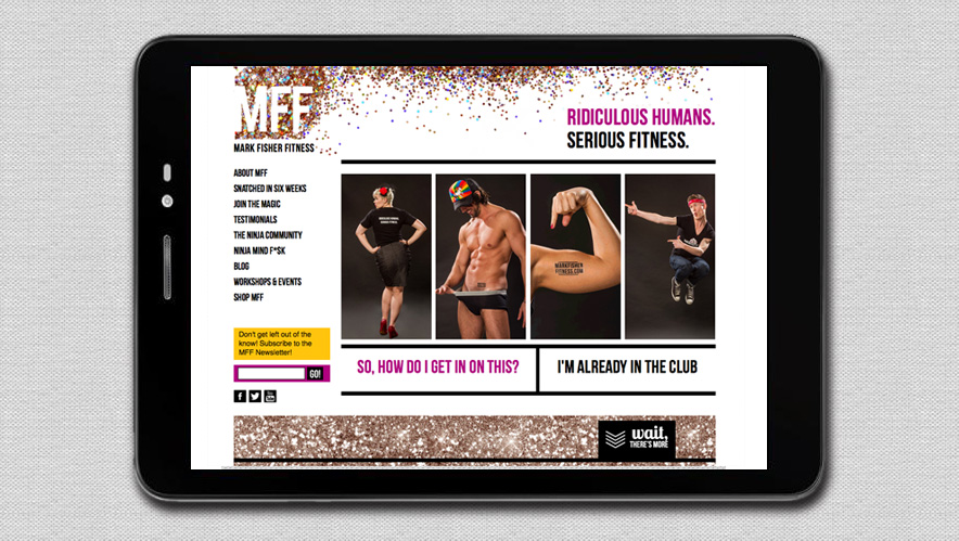 Mark Fisher Fitness Logo Design and Website Design