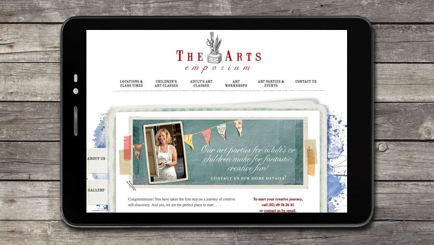 The Arts Emporium Website Design