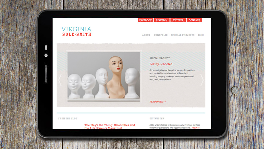 Virginia Sole-Smith Website Design